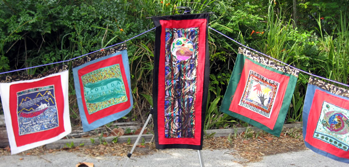 Sequined prayer flags